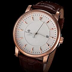 meccanico automatico orologio semplice fascia da polso in pelle linea maschile forsining® di (colori assortiti)