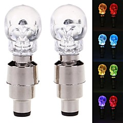 G30 Skull Head Style Blue Light Vehicle Tire Valve Flashing Lamp