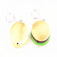Creative Hamburger Lighters Green Yellow