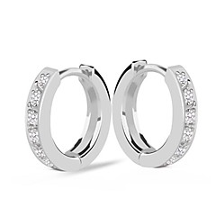 Fashion Hoop Earring White Golg Filled Jewelry Earring For Lady With Gift Box