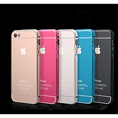 Metal Inclusive Metal Frame Cover Mobile Phone Protection Shell Back Cover Case for iPhone 5/iPhone 5s (Assorted Color)