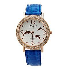 - Analog - Leopard - Anhänger-Uhr - für Damen