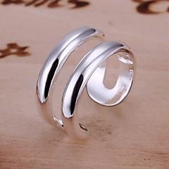 Anéis Casamento / Pesta / Diário / Casual Jóias Prata de Lei Feminino Anéis Grossos 1pç,Ajustável Prateado