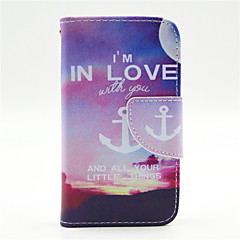 Evening Anchor Pattern PU Leather Full Body Case with Card Slot and Stand for iPhone 4/4S