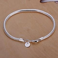 4M European Fashion Snake Shape 925 Silver Chain Bracelets(1Pc)