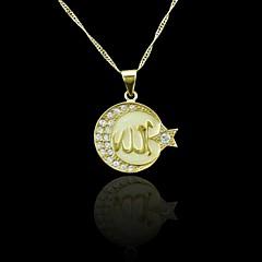 Oro verdadero 18k plateó allah colgante musulmán