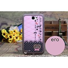 Samsung matkapuhelin - Samsung Note 2 N7100 - Takapäällinen - Kuvitettu Plastic )