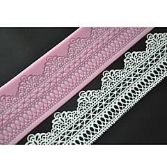 네-C 케이크를 만드는 도구 달콤한 레이스 매트 레이스 실리콘 몰드 컬러 핑크 LFM-11