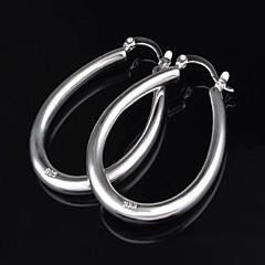 Titanium Steel Earring Hoop Earrings Wedding/Party 2pcs