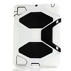 Silicone PC Soft Back Cover Case with Stand for iPad 2/3/4(Assorted Colors)