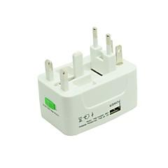universell strømadapter reise plugge elektrisk omformer usa uk europa med usb lader port