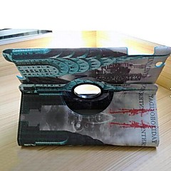 Retro British Style Green Tower PU Protect Holster with 360 Degree Rotation for iPad 2/3/4