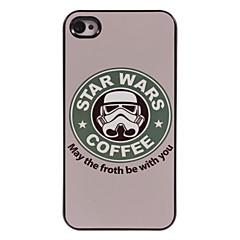 koffie design aluminium harde hoesje voor iPhone 4 / 4s