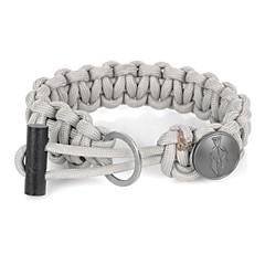 edcgear pulseira corda cabo pára-quedas com ferrocério rod + faca escondida - cinza claro