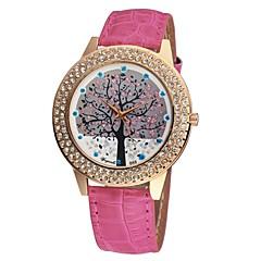Women's PU Leather Ladies Girl Daimond Christmas Tree Fashion Watch Quartz Analog