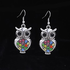 Elgant Owl Silver Dangle Earring (1 Pair)