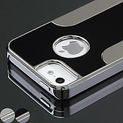 Funda Trasera - Diseño Especial - para iPhone 5/iPhone 5S ( Negro/Plata , Metal )