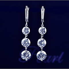 Fashion Jewelry Drop Earring 10KT White Gold Filled  Earrings High Quality