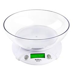 1g-7 kg multifuncional LCD Digital parcela eletrônico peso dos alimentos com escalas balança de cozinha bacia pesando cozinhar ferramentas