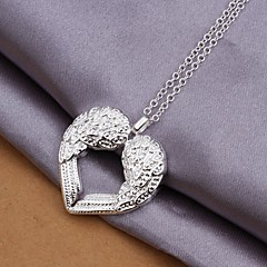 925 Silver Wings of Love Pendant Necklace (1 Pc)