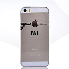 Shooting Wear Apple Pattern TPU Soft Cover for iPhone 5/5S