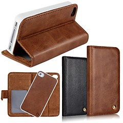 2 In 1 Top Quality Genuine Leather Wallet Case with Stand Cover for iPhone 4/4S (Assorted Colors)