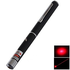 LS323 Single Light Red Laser Pointer Pen(5mW, 650nm, 2XAAA, Black)