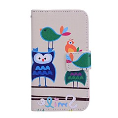 Two Owls Pattern PU Leather Full Body Case For Samsung Galaxy Win I8552