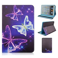 The Stars Butterflies Print Pattern PU Leather Full Body Case with Stand for iPad mini 1/2/3