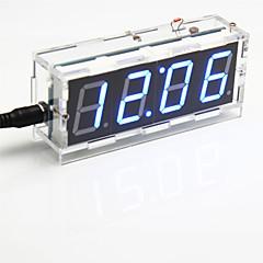 DIY 4-jegyű hétszegmenses kijelző digitális fényerő-szabályozó asztali óra szett (kék fény)
