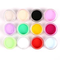 12db vegyes színű köröm akril festékkel por köröm szobrászat, faragás uv festés porral szalon köröm díszítés