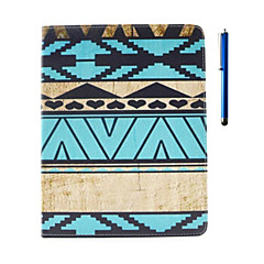 Love Pattern PU Leather Case with Stand and Pen for iPad 2/3/4