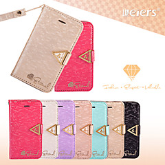 LEIERS®Vogue Weave Silk Leather Wallet Bling Shining Diamond Flip Card Slot Case Cover for iPhone 4/4S (Assorted Colors)
