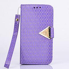 diamant du vent or diamant éternité série de cuir en treillis pour iphone 5 / 5s (couleurs assorties)