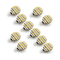 10 pcs ding yao G4 5W 24X SMD 3528 500-700LM 2700-3500/6000-6500K Warm White/Cool White Bi-pin Lights AC 12V