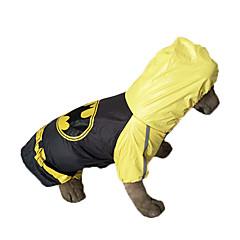 Perros Impermeable Amarillo Primavera/Otoño Caricaturas A Prueba de Agua