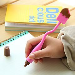 Toll Toll Golyóstollak Toll,Szilikon Hordó Fekete Ink Colors For Iskolai felszerelés Irodaszerek Csomag