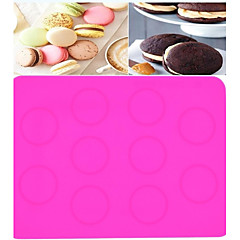 Large Macarons Silicone Mold. Dessert Baking Molds. Macarons Special Oven Pad (Color Random)