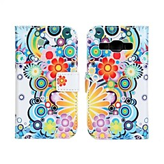 Painting Oil Painting Pattern Wallet Card PU Leather Full Body Case for Samsung Ace 3 S7272/S7275