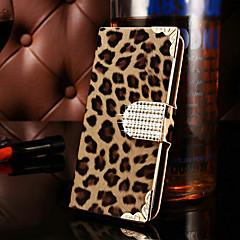 For Samsung Galaxy Case Wallet / Card Holder / Rhinestone / Flip Case Full Body Case Leopard Print PU Leather SamsungS7 edge / S7 / S6
