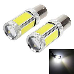 1156 18w 1800lm 6000K 4-початок + 2-3535 SMD LED белый свет лампы для автомобилей сигнала поворота / заднюю подсветку (DC 12-24В, 1 пара)