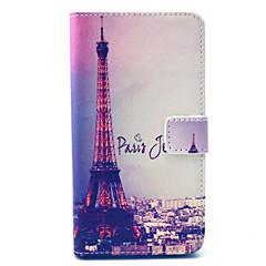Varten Wiko kotelo Lomapkko / Korttikotelo / Tuella / Flip / Kuvio Etui Kokonaan peittävä Etui Eiffelin torni Kova Tekonahka Wiko