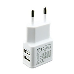 5V 2A EU plug Dual 2 Ports USB Wall Charger for iPhone 6/5S/4 Galaxy S5/S4 Nexus 5 Universal Carregador de celular