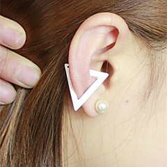 Earring Clip Earrings Jewelry Women Wedding / Party / Daily / Casual Alloy / Feather 1pc Gold / Black / Silver / White