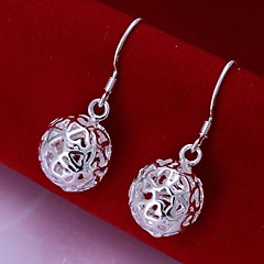 Earring Drop Earrings Jewelry Women Wedding / Party / Daily / Casual Sterling Silver 2pcs Silver