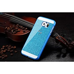 Fashion Shiny Bling Phone Case Hard Back Cover Case For Samsung Galaxy S6 (Blue)