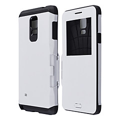 Protective PC Flip Armor Back Cover Case w/Visual Window,Auto Sleep/Wake Up for Samsung Galaxy Note 4 (Assorted Colors)