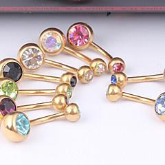 Dame Navel & Bell Button Rings Krystal / Rustfrit Stål Smykker,1pc