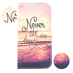 Setting Sun Painting PU Leather Falling Proof Case with Stand and Slot Card for Samsung Galaxy S3 Mini I8190N
