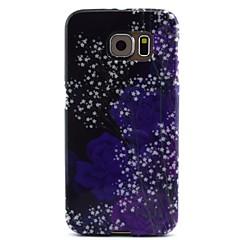 purpuriu a crescut de model TPU caz moale pentru Samsung Galaxy s6